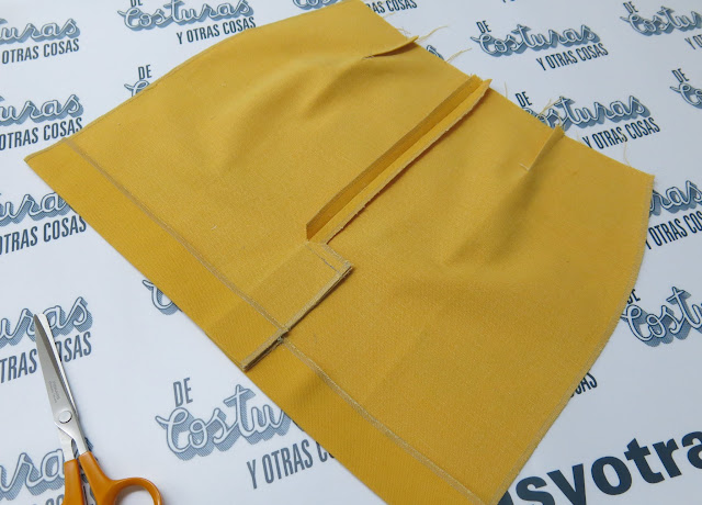 como hacer una falda con abertura montada
