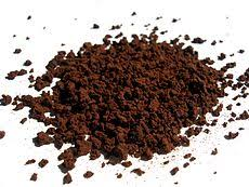 Some instant coffee granules