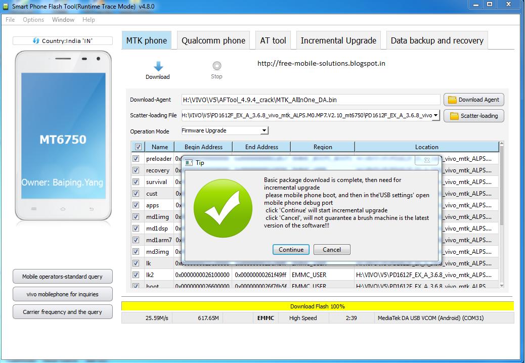 VIVO V5 1601 Tested Flash File And Flash Tool Download