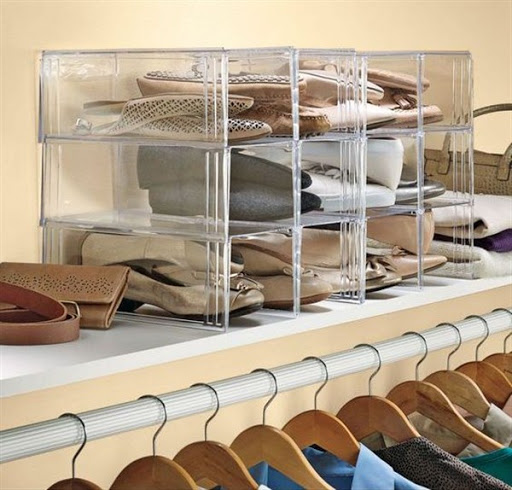 plastic shoe storage