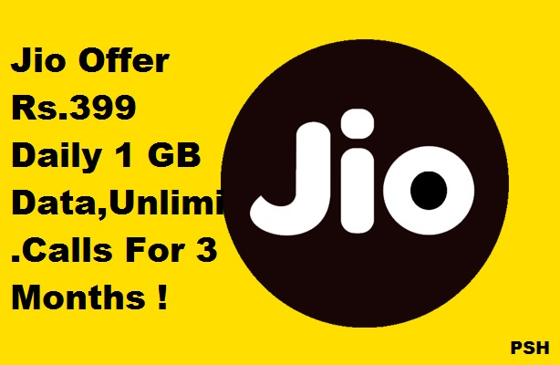 Reliance Jio New Monsoon Offer Rs.399 Plan For 3 Months in hindi