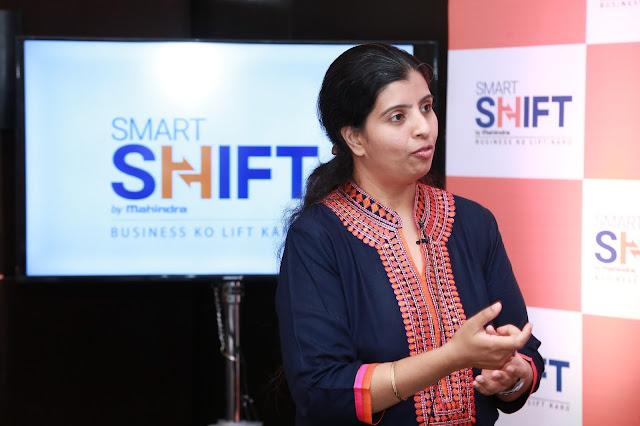 Kausalya Nandakumar, CEO, SmartShift Speaking at the launch of SmartShift in Bengaluru on Tuesday