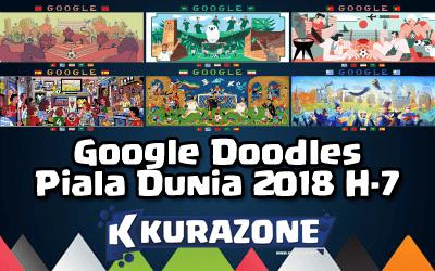 Google Doodles - Piala Dunia 2018 H-7