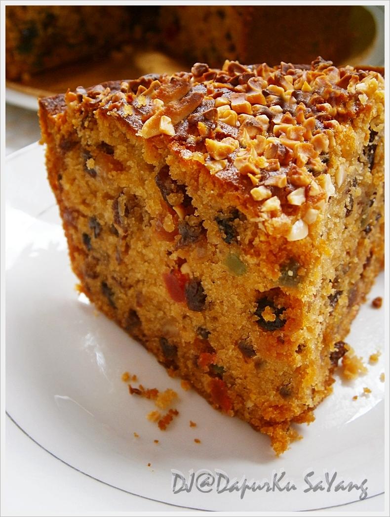dapurku sayang eggless fruit cake kek buah  telur bakar Resepi Kek Oren Tanpa Mentega Enak dan Mudah