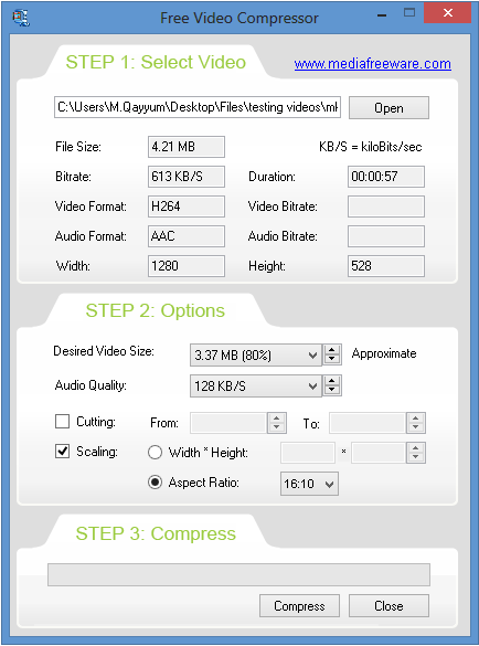 تحميل برنامج Free Video Compressor لتقليل مساحة الفيديو وضغطه
