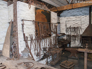 Tool rack and work area Blacksmiths shop Victorian Blists Hill