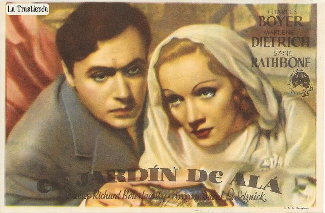 El Jardín de Alá - Folleto de mano - Marlene Dietrich - Charles Boyer