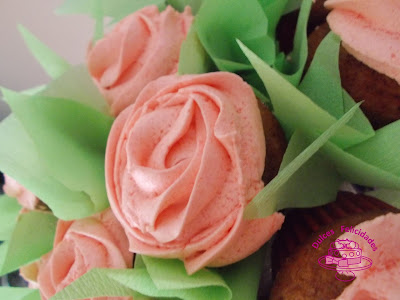 Maceta de cupcakes
