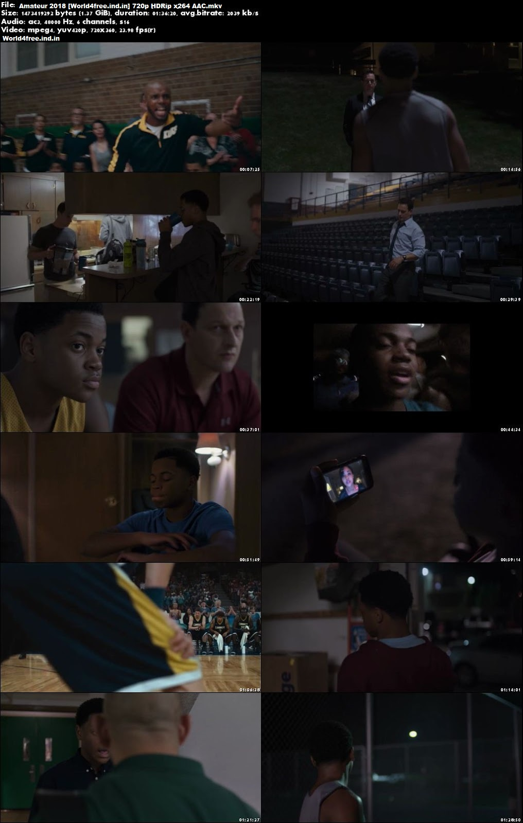 Amateur 2018 worldfree4u Full HDRip 720p English Movie Download