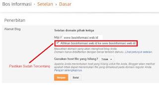 Pengaturan domain agar dapat diakses dengan atau tanpa www