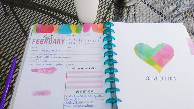 Monthly Goals page on The Happy Planner