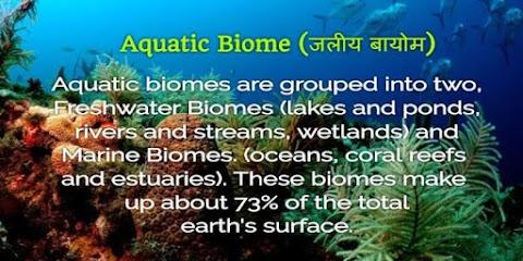 जलीय बायोम (Aquatic Biome)- Jaliy Bayom का अर्थ एवं Jaleey Bayom के प्रमुख जीव