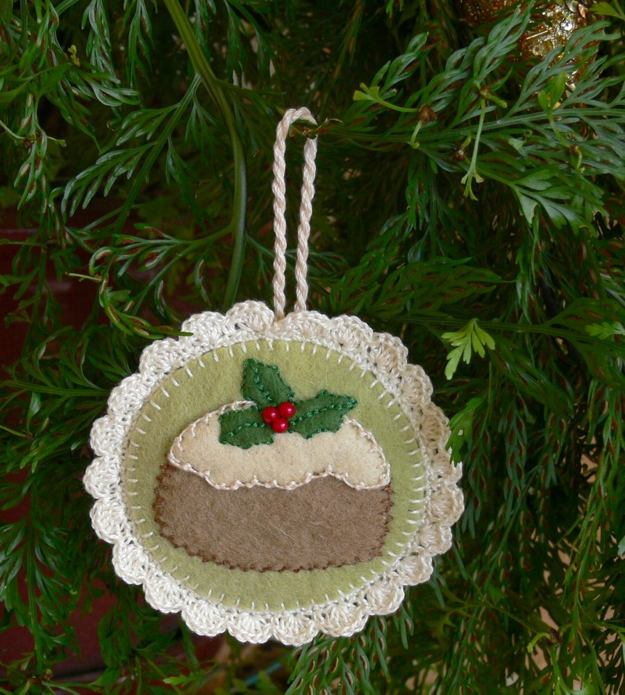 pudding christmas tree ornament free pattern