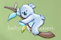 silueta de madera infantil koala babydelicatessen