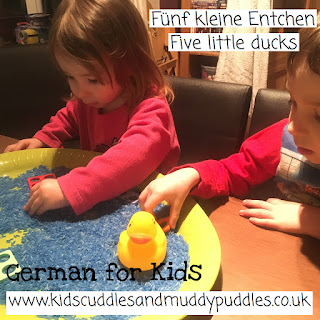 German for Kids: Fünf kleine Entchen - Five little ducks