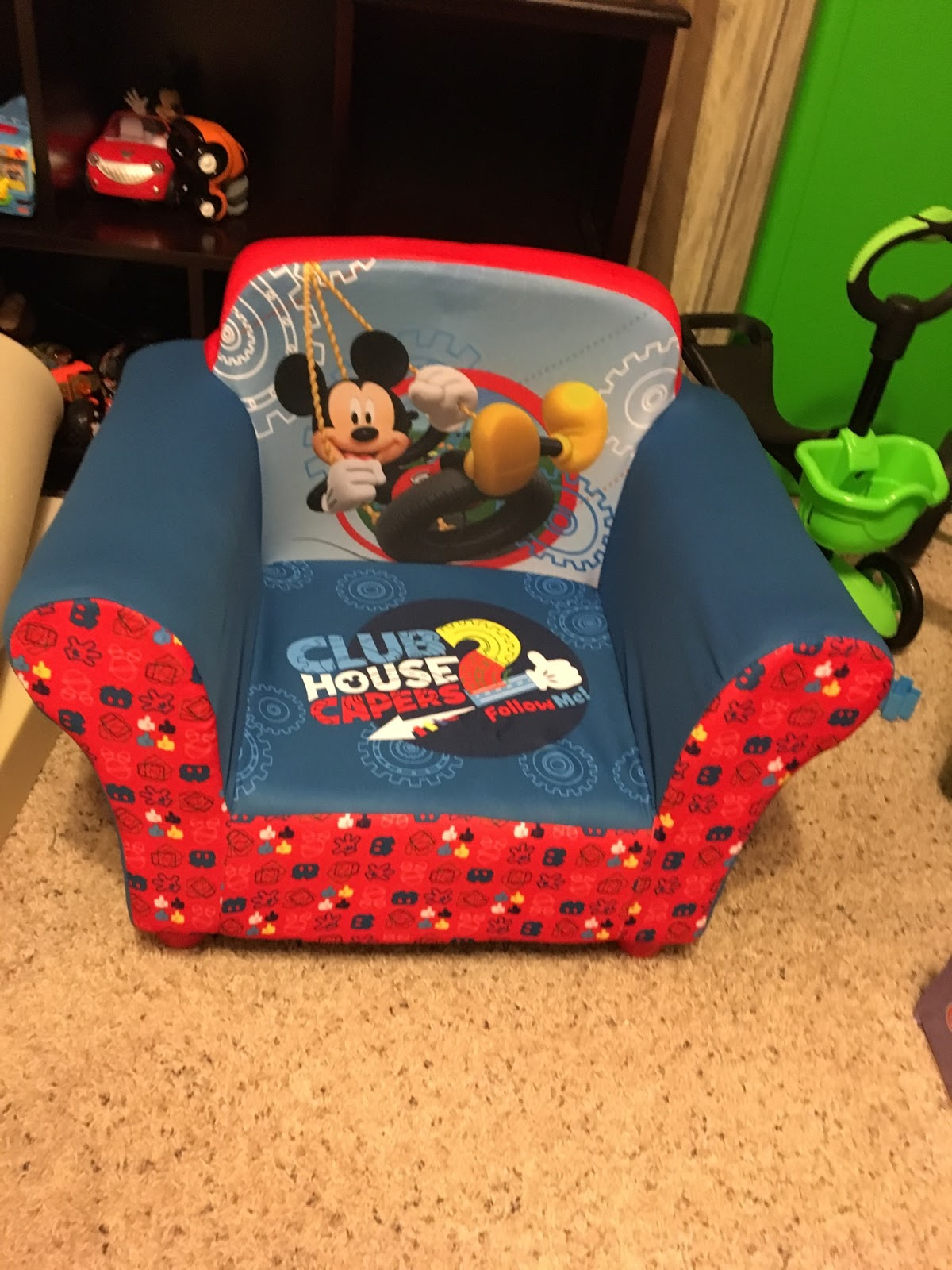 Mickey Mouse Chairs For Toddlers My Son Sits Like A Big Boy With The Mickey Mouse Chair From Delta