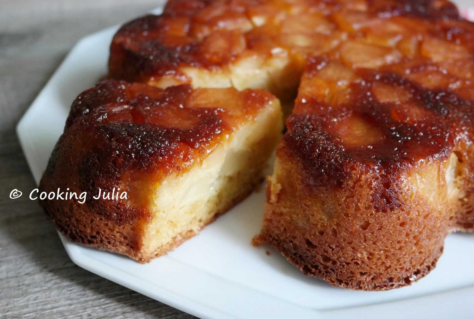 cooking julia g teau renvers aux pommes. Black Bedroom Furniture Sets. Home Design Ideas
