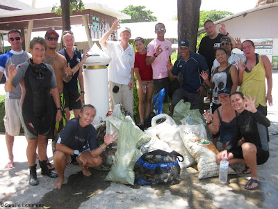 Chaweng beach underwater clean up