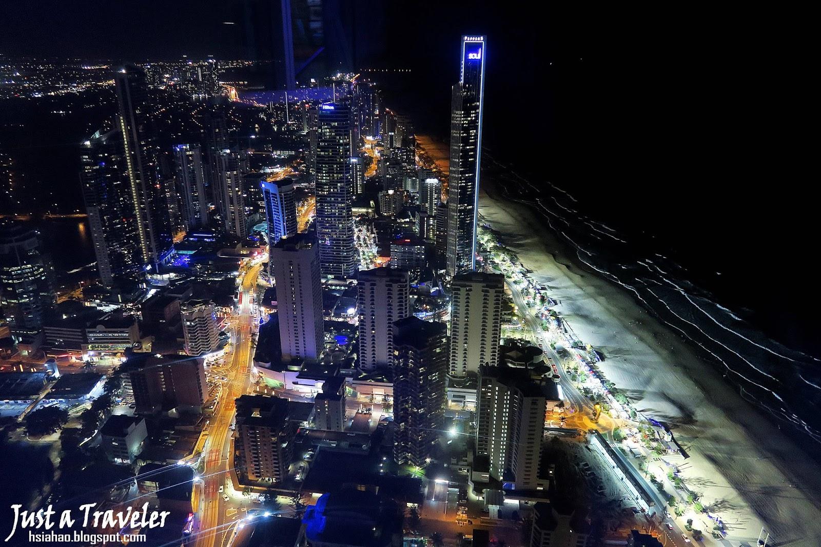 黃金海岸-夜景-景點-推薦-Q1-Skypoint-觀景台-Gold-Coast-Attraction-Observatory-deck-Tourist-destination