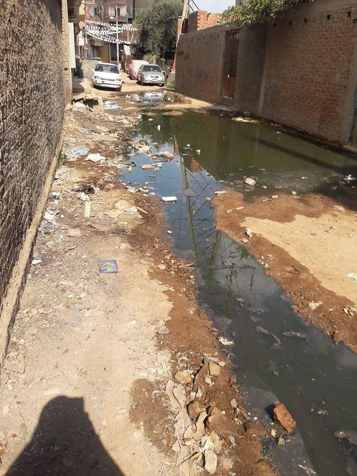 مواطن يشكوى من تعرض منطقة الورش الأولى بسبرباى مركز طنطا للصرف الصحى والضغط العالى