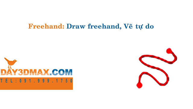 Dạy học 3d sketchup 11 Hướng dẫn lệnh  freehand learning sketchup study 3d how to use freehand tool