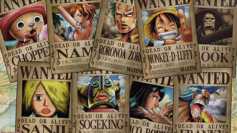 One Piece, Straw Hat Pirates, Wanted, Poster, 4K, #6.177
