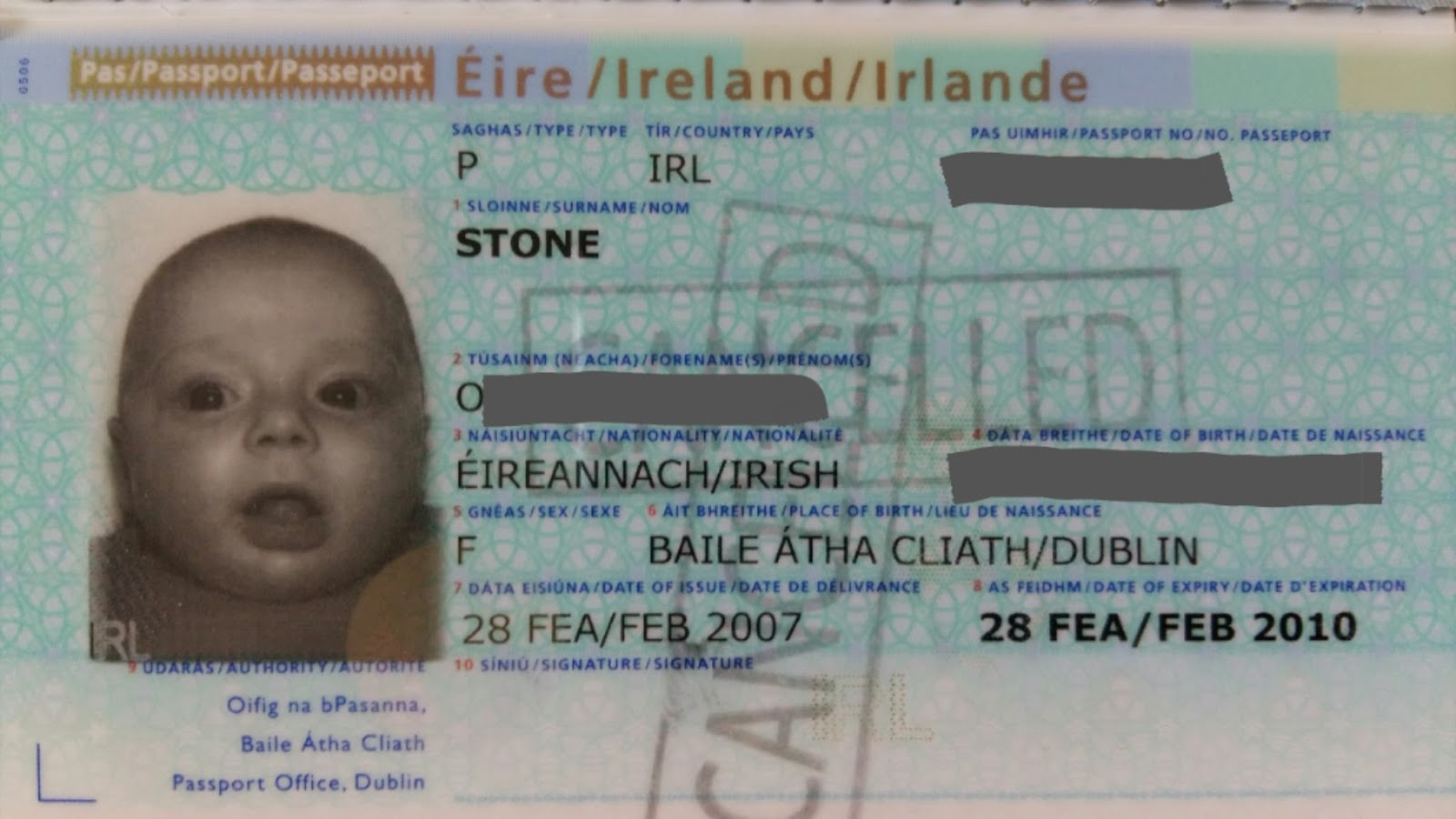 CherrySue, Doin\' the Do: How to Get Baby\'s First Passport in Ireland ...