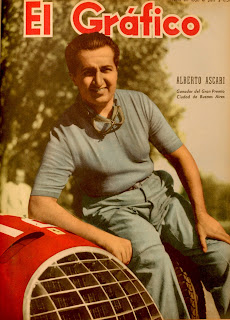Ascari on the cover of a magazine in  Argentina, where he was very popular