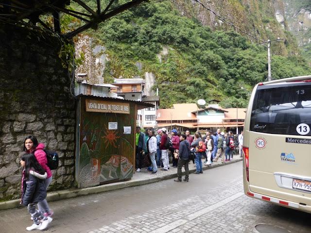 Machupicchu, autobús de Aguas Calientes a Machupicchu