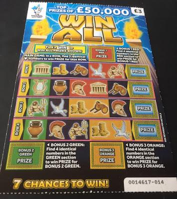 £3 Win All Scratch Card