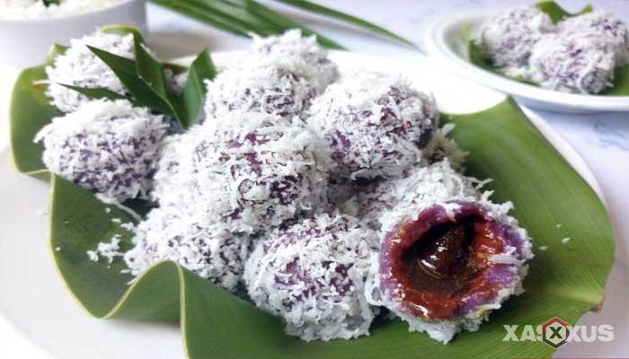 Resep cara membuat klepon ubi ungu isi coklat