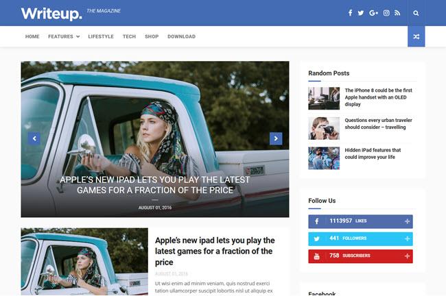 Writeup – Responsive Blogger Template
