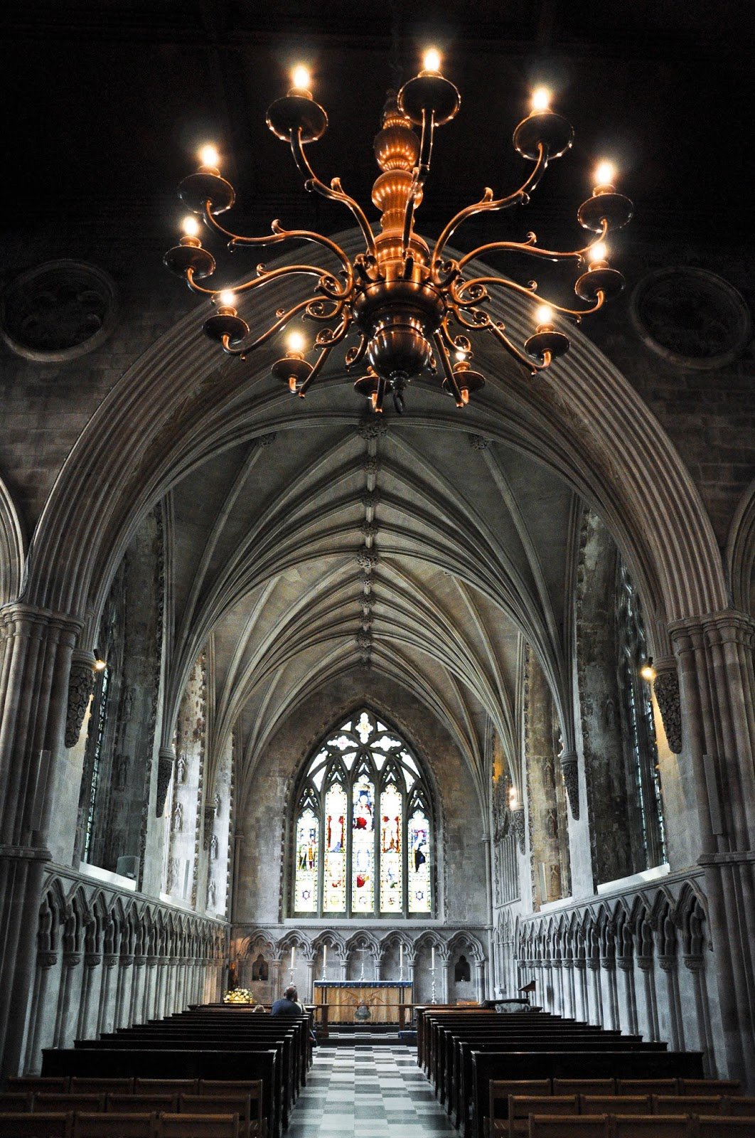 Inside St. Albans Cathedral, St. Albans, Herts, England