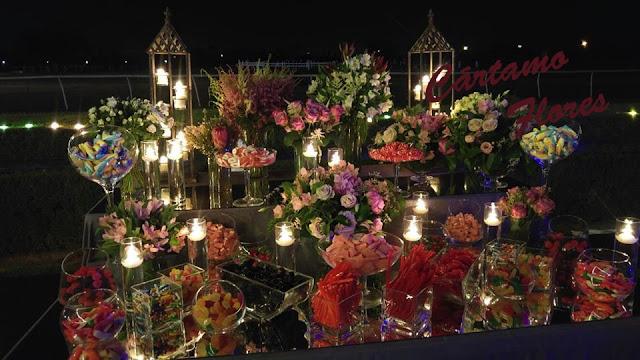 mesa de golosinas para bodas