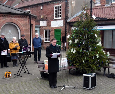 The Rev Trudy Hobson conducting the Tree of Light Service in Brigg - January 5th 2019 - see Nigel Fisher's Brigg Blog
