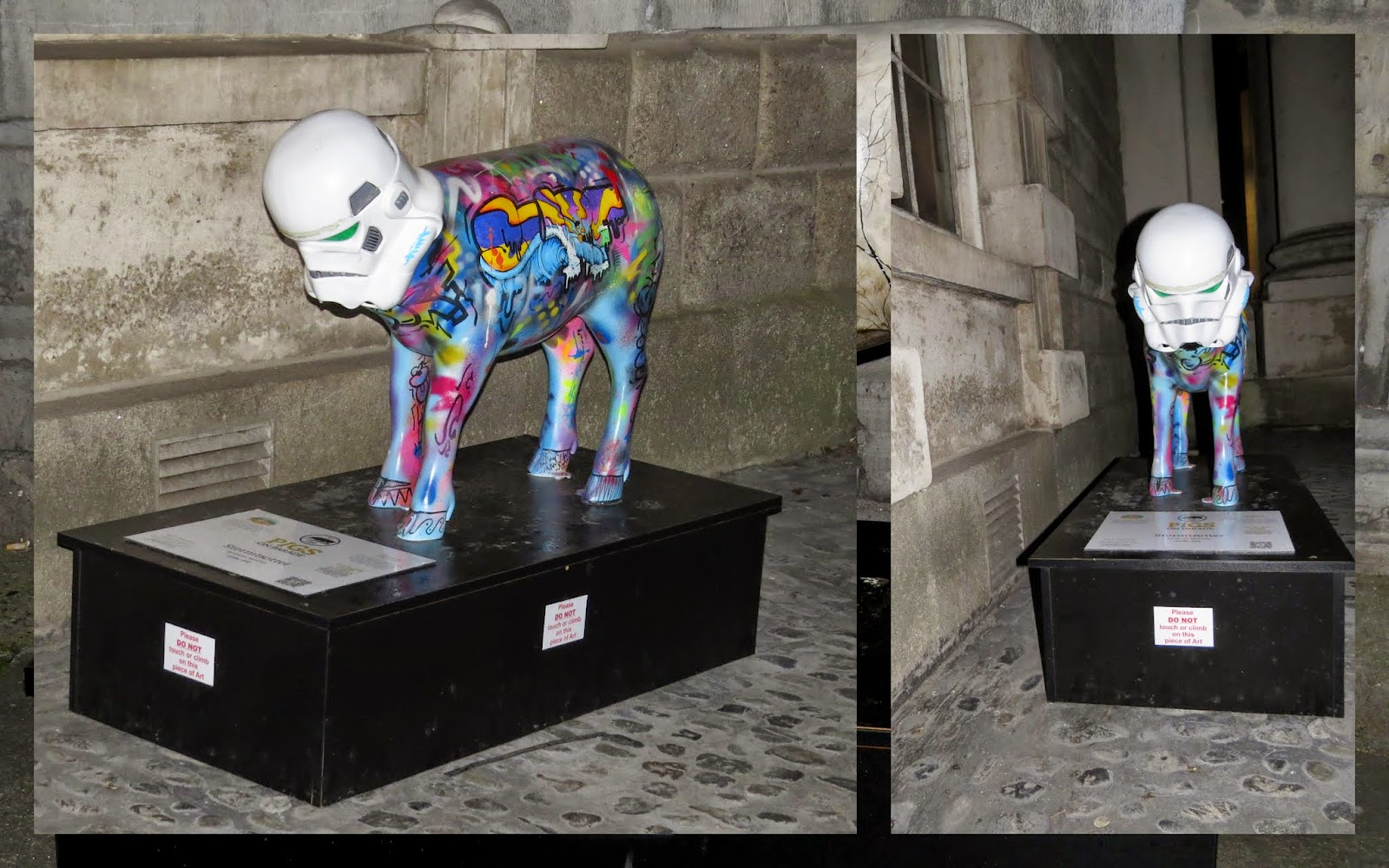 Storm Trotter #pigsonparade at Trinity College in Dublin