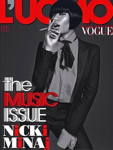 Lana Del Rey and Nicki Minaj cover L'Uomo Vogue October 2014
