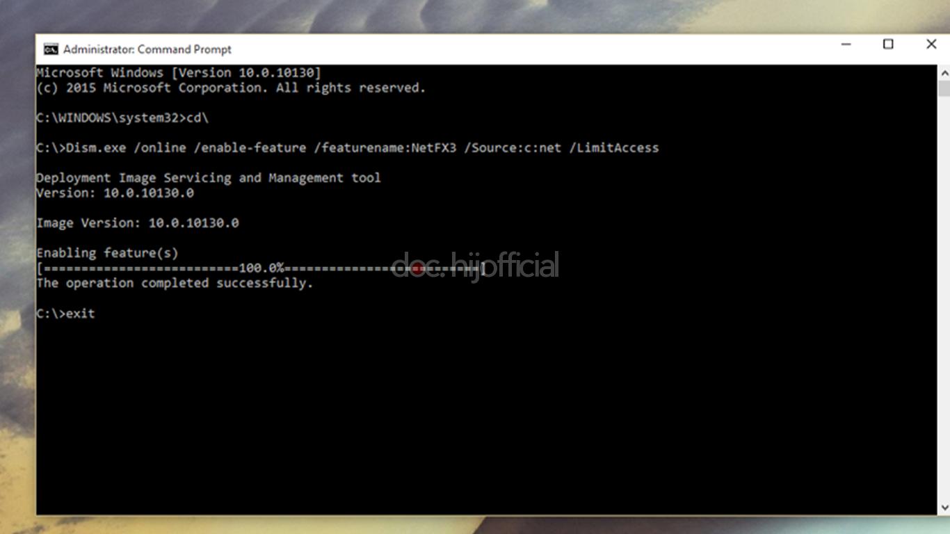 Cara Mudah Instalasi .NET Framework 3.5 Di Windows 10 (5)