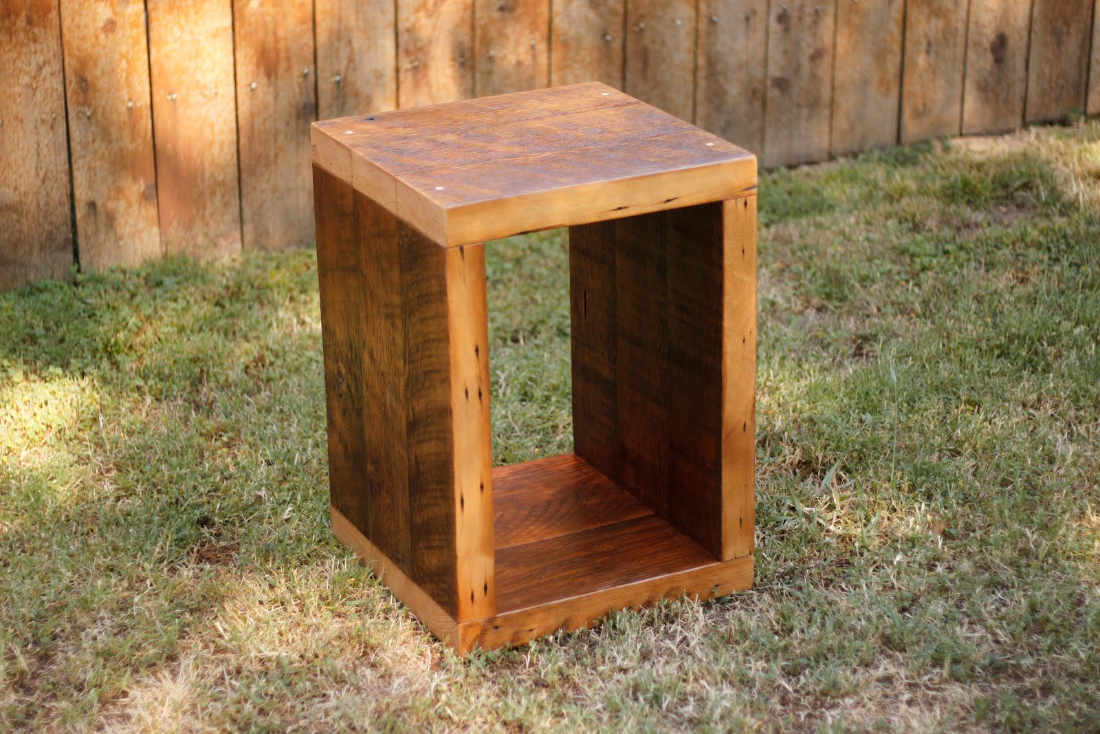 Wood Cube End Table Arbor Exchange Reclaimed Wood Furniture Cube End Tables