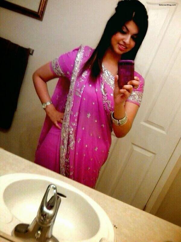 Indian women sari strip