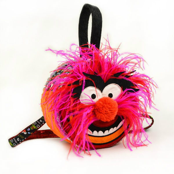 Irregular Choice Disney Muppets fluffy Animal Handbag on white background