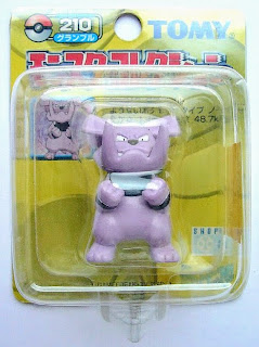 Granbull Pokemon figure Tomy Monster Collection yellow package series