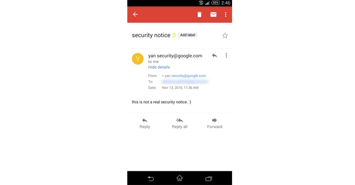 Gmail Android App Bug Allows anyone to Send Spoofed Emails