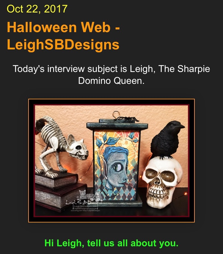 "Check out my Halloween internview with Dex @ the ""AEIOU and Sometimes Why"" Blog!"