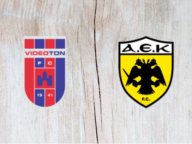 Vidi FC vs AEK Athens - Highlights - 22 August 2018