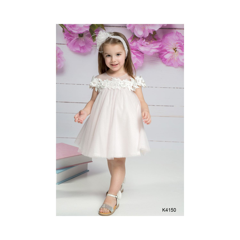 Light pink Baptismal clothes girl K4150