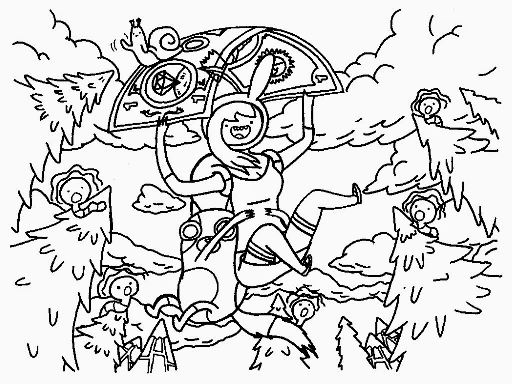 cartoons free printable coloring pages adventure time
