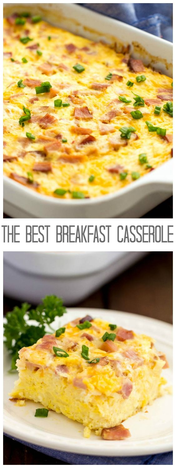 A delicious and hearty breakfast casserole that is the BEST that you will make! #breakfast #casserole #bestbreakfast #easybreakfast #breakfastcasserole