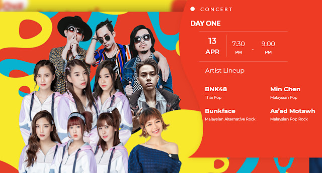 UCHAT SONGKRAN DAY-OUT Concert BNK48, Min Chen, Bunkface, As'ad Motawh SETIA CITY OVAL LAWN