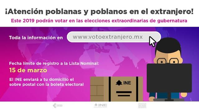 Hasta el 15 de marzo registro para voto en el extranjero